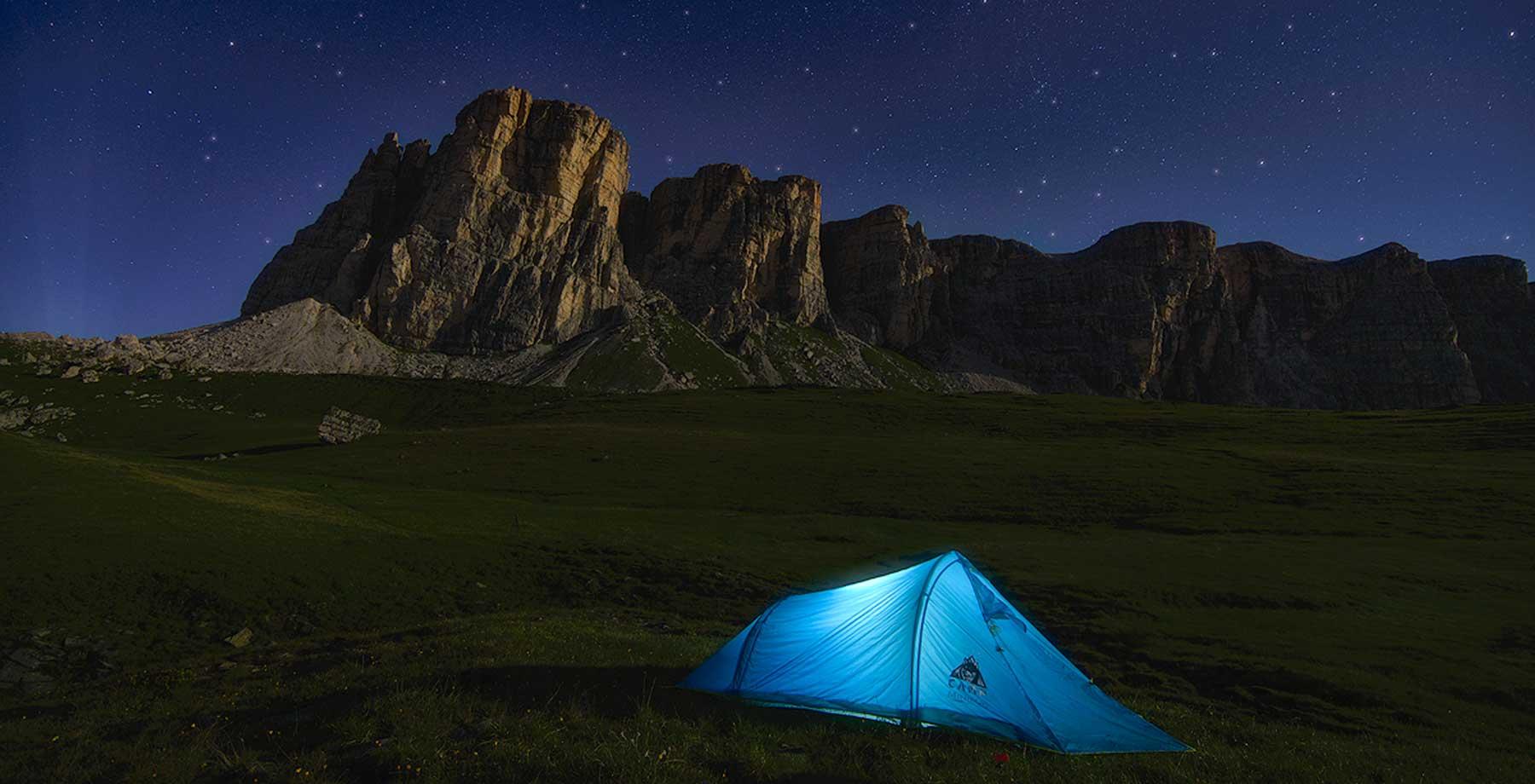 Camping in der Nacht