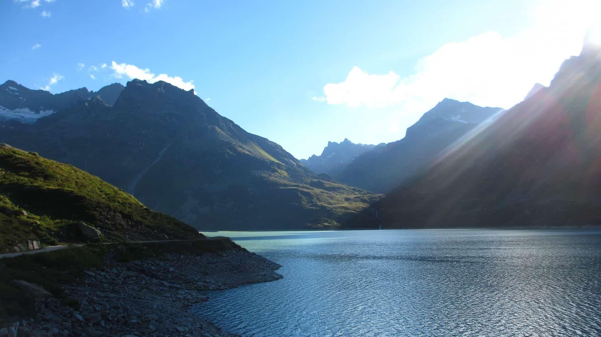 Der Silvretta-Stausee im Sommer